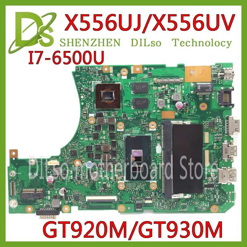 KEFU X556UJ X556UV материнская плата для ASUS X556U X556UJ X556UV X556UF X556UR материнская плата для ноутбука I7-6500U GT920/GT930 Тесты