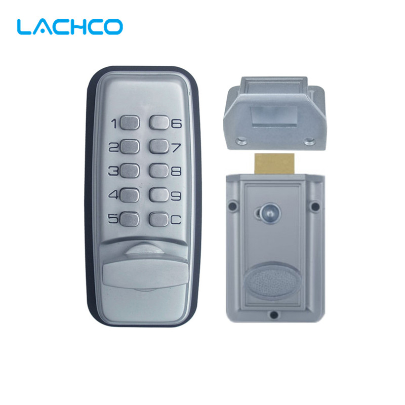 LACHCO  Mechanical Code Lock Digital Machinery Keypad Password Entry Door lock Stainless Steel Zinc Alloy Silver L17005