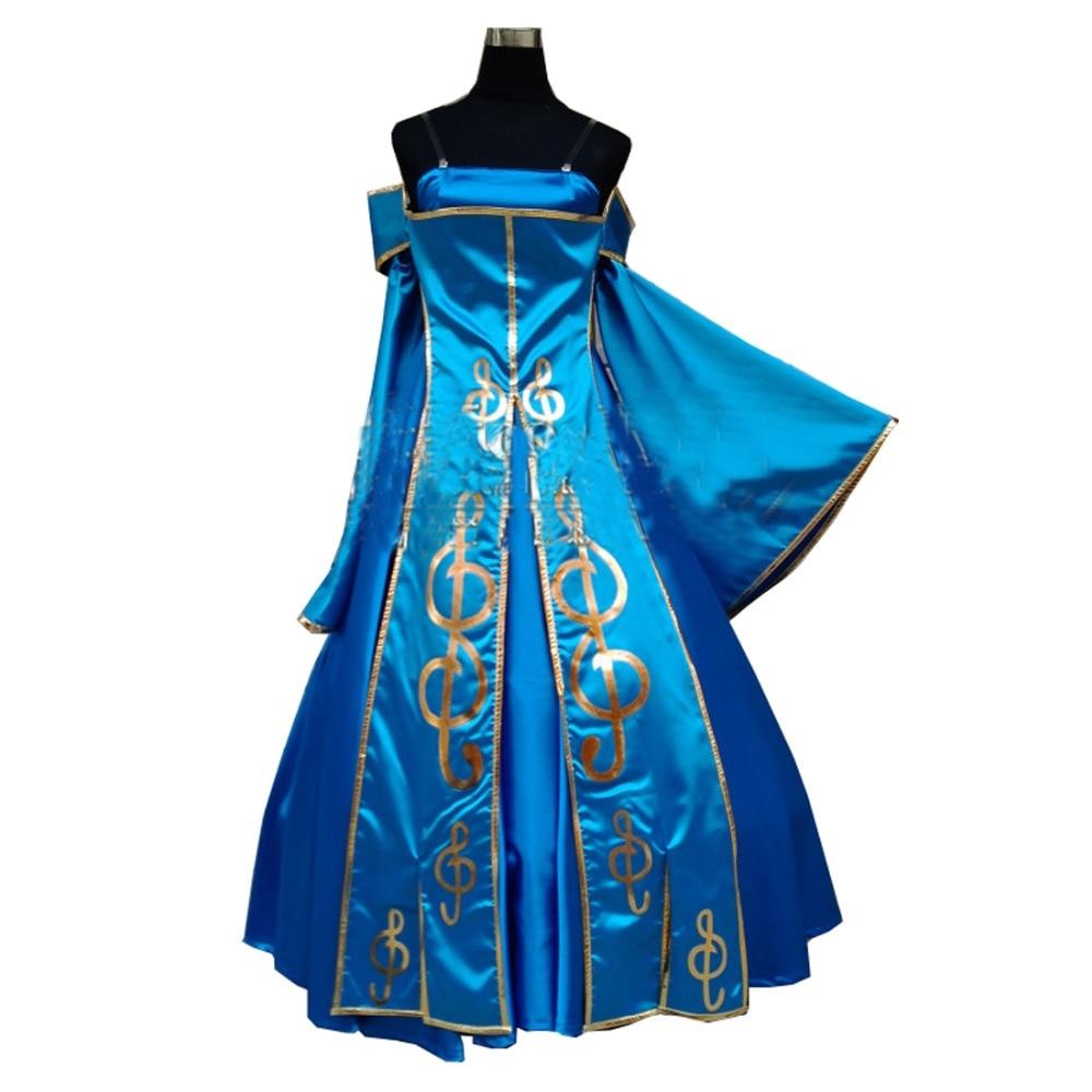 2018 LOL Sona Costume Cosplay robe élégante