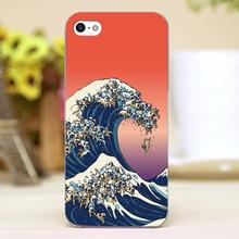 The Great Wave of Pug Design Customized transparent case cover cell mobile phone cases for Apple