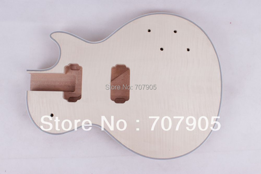 New electric guitar body Mahogany flame maple veneer top fine quality 1 pcs 554 new flame