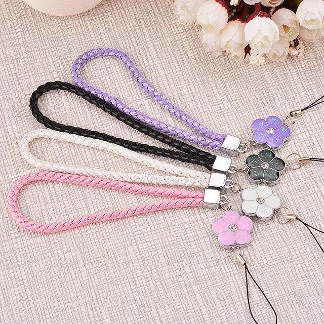 Black PU Leather Cell Phone Strap Lanyard Universal Wrist Hand for Mobile Camera Key USB Drive handbag Promotional Gifts Short