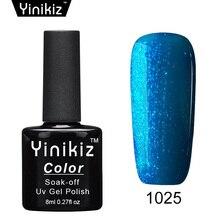 Yinikiz Long Lasting Soak Off Uv Nail Gel Polish Glitter Led Primer Base Finish Top Coat Gel Varinsh French Nail Art Set