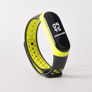 Image 5 - Armband mi Band 3 4 strap sport Silikon für Xiao mi mi band 3 4 strap uhr handgelenk mi band 3 4 zubehör mi band3 armband smart