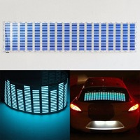 Blue Light Car Music Rhythm LED Flash Light Sound Activated Equalizer 90X25CM 70X16CM