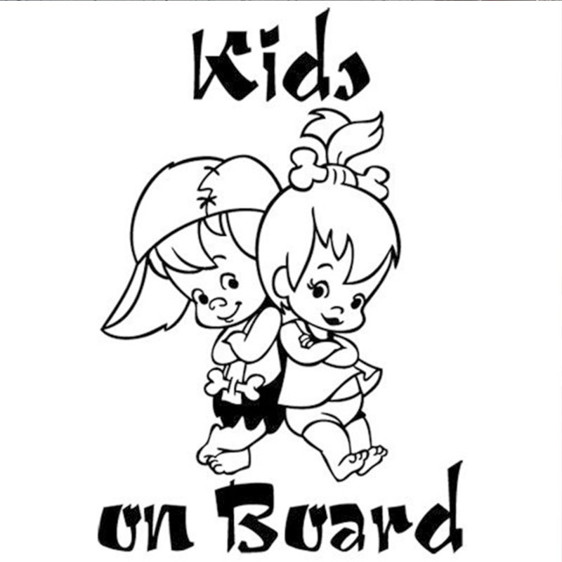 KIDS ON BOARD Car Sticker Warning Signs Waterproof Vinyl funny Decal for cars styling automotive products Cartoon Creative decor