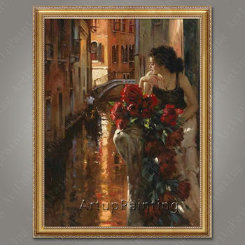 Pintura al óleo bailaora de flamenco española para mujer latina, pintura al óleo sobre lienzo de alta calidad pintada a mano latina 33