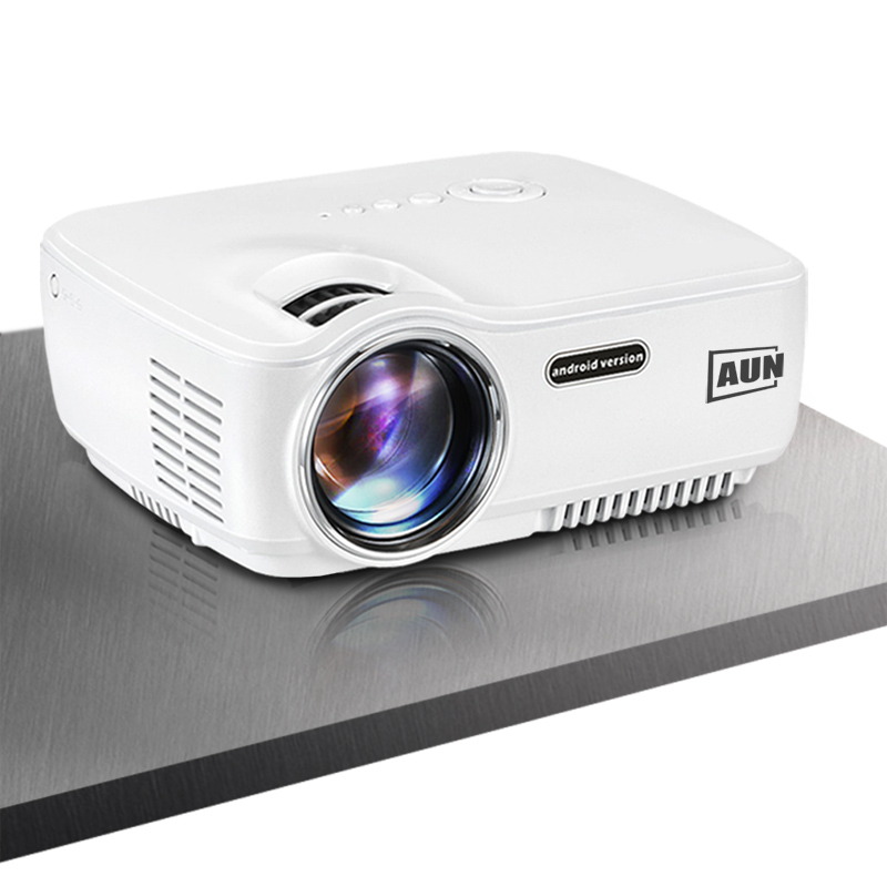 AUN Android Projector AM01S 1400 Lumens Built in Android WIFI Bluetooth Support Airplay Miracast Most Cost