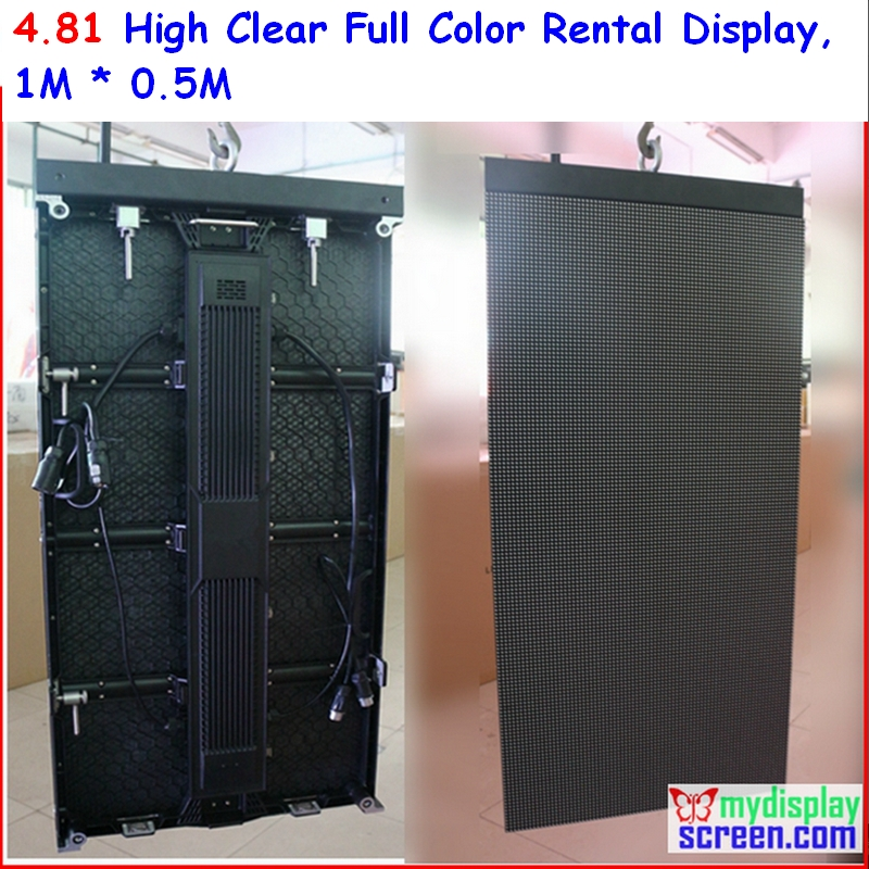 p4.8 alloy rental display, 500mm*1000mm,full color rental die casting for event led display screen
