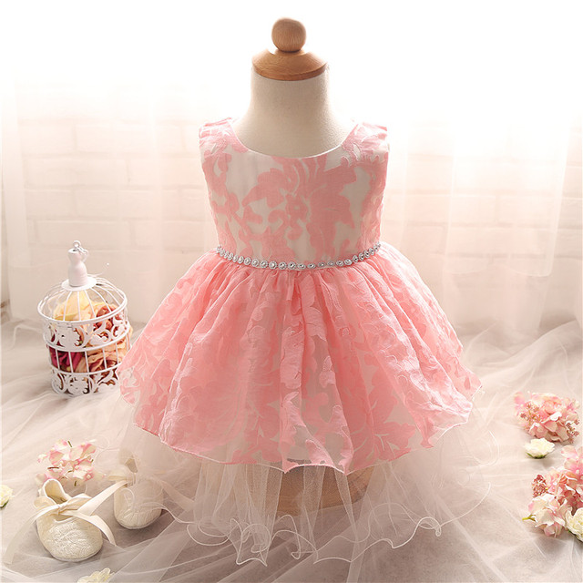 Elegant Lace Baby Girl Dress Christening Baptism Pageant Party ...
