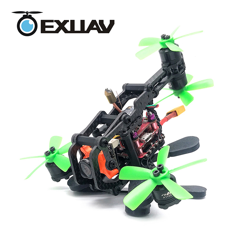 EXUAV A-Max Cerberus 110 FPV Racing Drone 110mm Wheelbase 2mm Arms Carbon Fiber Frame and Y4-Structure RC DIY Mini Toys exuav y120s 120mm wheelbase fpv racing drone y4 type design carbon fiber frame flytower racing mini f4 for diy mini rc toys 270g