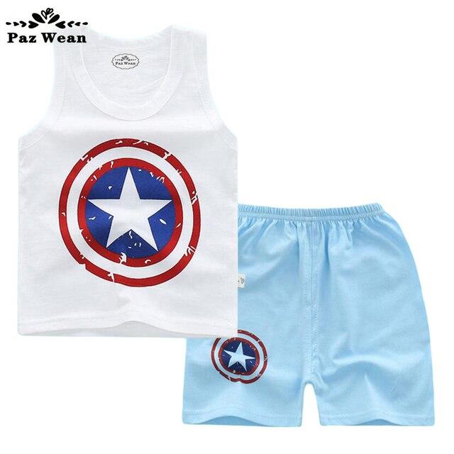 7fbf4ee7e6635 Verano niño niños ropa niños niñas chándal de los bebés t shirt set 1 2 3