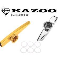 2 цвета kazoo металлический сплав с 1 шт. диафрагма для флейты подарок музыкальный инструмент для детей любителей музыки kazoo