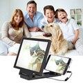 New Folding Portátil Ampliador de Tela 3D HD Amplificador Para iPhone Samsung HTC Falante ampliador de tela Do Telefone Móvel