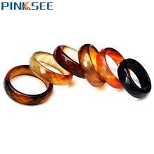 Женские кольца из натурального камня 5 шт разные цвета