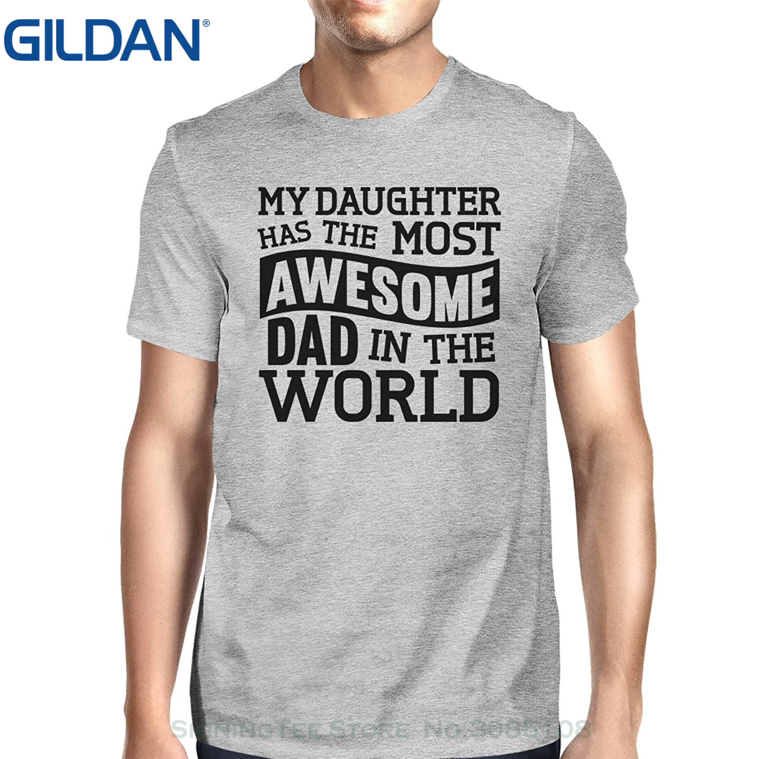 GILDAN New Fashion Cool Casual T Shirts 365 Printing Happy Fathers Day Unique Design Tee For Men Unique Gifts For Dad