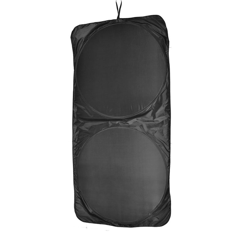 ZYHW Brand car windshield sun shade Black Car Front Rear Windshield Window Sunshade Collapsible Shield