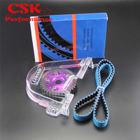 Timing Belt Cover+Cam Pulley w/ Belt Kit Fits For Honda Civic D15 D16C 96 00 Red/Blue/Purple