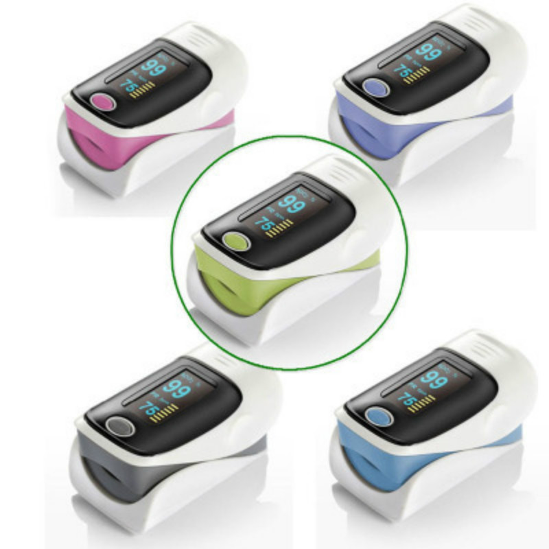Fingertip finger Pulse Oximeter Blood Oxygen Saturation Hear Rate Monitor cardiac Detector Adult Medical Instruments Health Care-in Blood Pressure from Beauty & Health