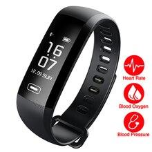 Новый M2 + (R5MAX) Smart Браслет Heart Rate крови кислородом Presión arterial будильник SmartBand Фитнес трекер Bluetooth браслет