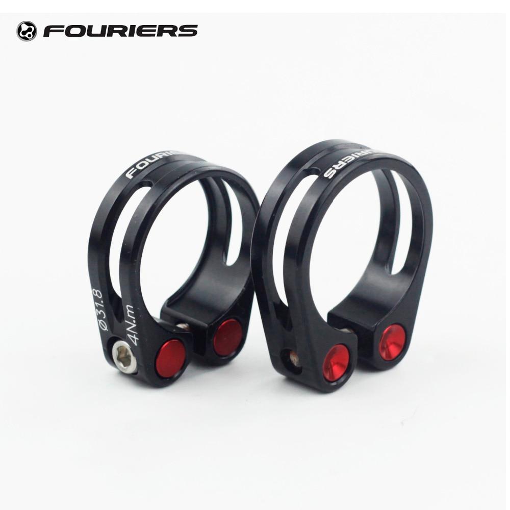 Fouriers Aluminium Seatpost Clamp 31.8mm 34.9mm MTB Road Bike Collar Fixed Bolts Screw CNC Black