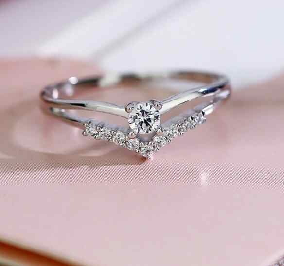 women rings Romantic Lovely Natural Birthstone in Bridal Princess Wedding Engagement Ring Size 6 7 8 9 10