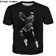 8e0a1c9968d2 PLstar Cosmos 2017 summer New Fashion t-shirt star Michael Jordan 3d Print  Men Women t shirts casual O-Neck T shirts
