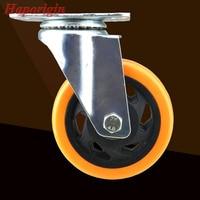 4 Swivel Flower Wheels Caster Industrial Castor Univeral Furniture Wheel Silence PVC Rolling Heavy Caster Shelf