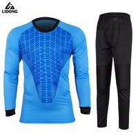 Football Goalkeeper Jerseys Men Soccer Doorkeepers Jersey Set Custom Long Sleeve Goalkeeper Protection Kits Trainning TrackSuits