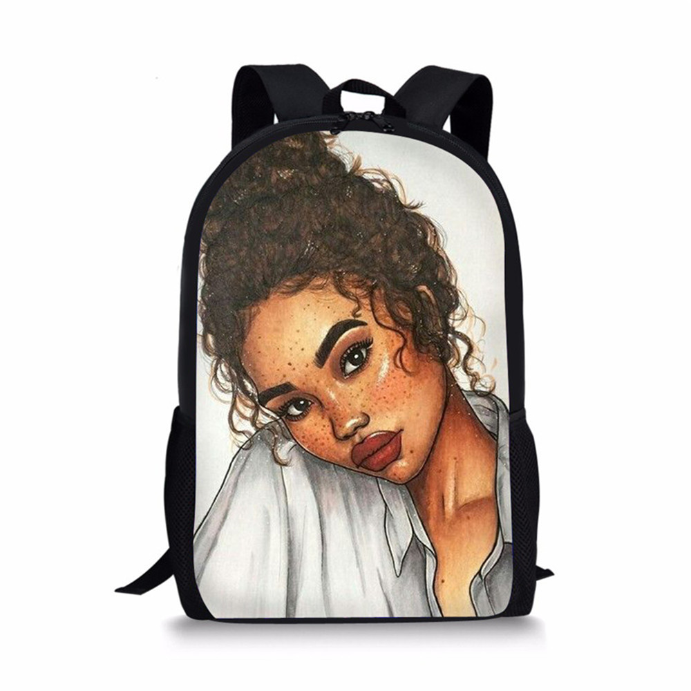 Thikin Traditional Africa Art Women Students School Bag for Teenager Backpack Travel Package Shopping Shoulder Bag Women Mochila in Backpacks from Luggage Bags