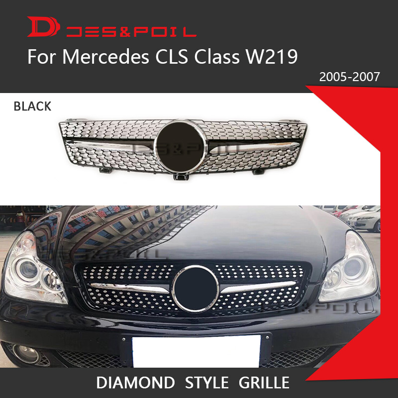 Diamond Grille For Mercedes Benz CLS Class <font><b>W219</b></font> Pre-Facelift Facelift Sedan Front <font><b>Grill</b></font> 2005-2010 CLS300 CLS350 CLS450 CLS500 image