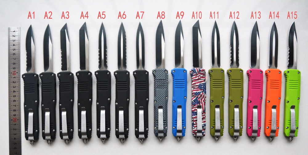 BM-HK 15models A07 double action knives 440 stainless steel blade Pocket knife with nylon sheath original packaging king double krn a5t 5 zirconia ceramic utility knife w sheath red white