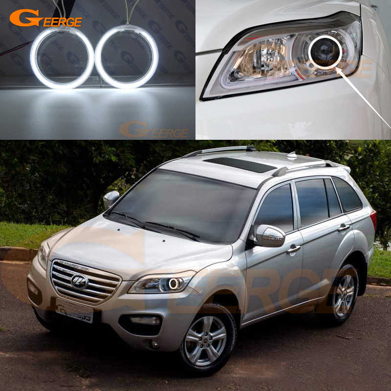 For Lifan X60 2011 2012 2013 2014 2015 Excellent angel Eyes Ultra bright headlight illumination CCFL angel eyes Halo Ring kit