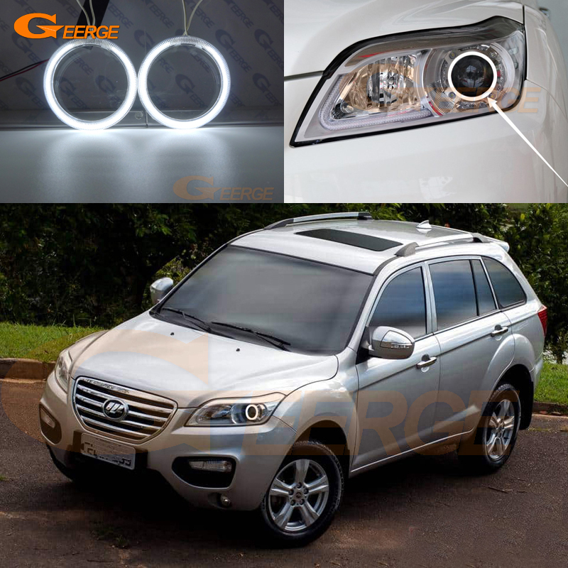 For Lifan X60 2011 2012 2013 2014 2015 Excellent angel Eyes Ultra bright headlight illumination CCFL angel eyes Halo Ring kit шаровая lifan 520 520i