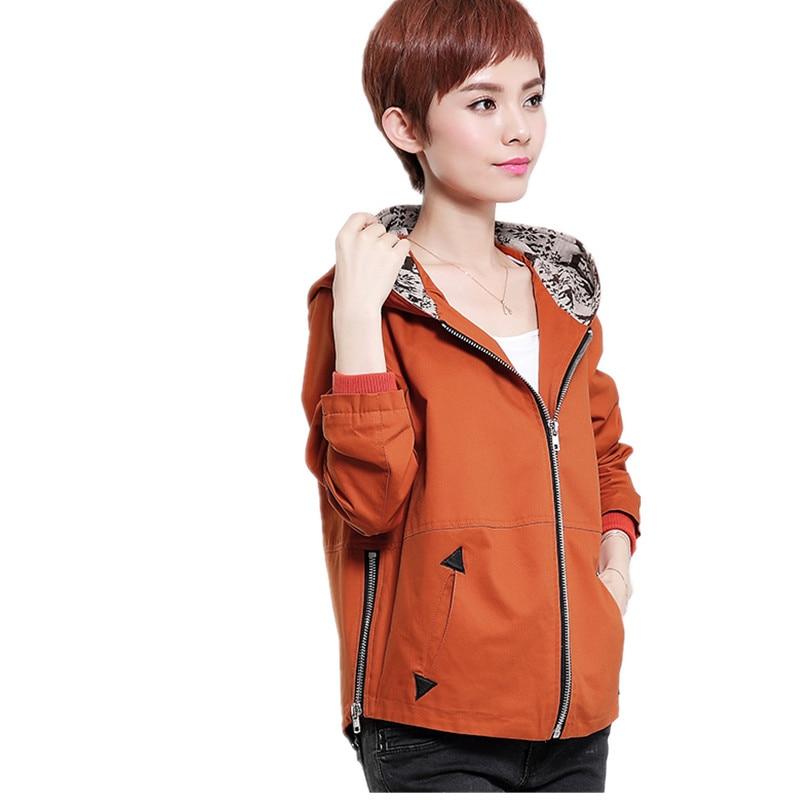 2018 Autumn New Fashion   Jacket   Women Hooded   basic     Jacket   Casual Thin Windbreaker female Short   jacket   Outwear Women Coat bl203