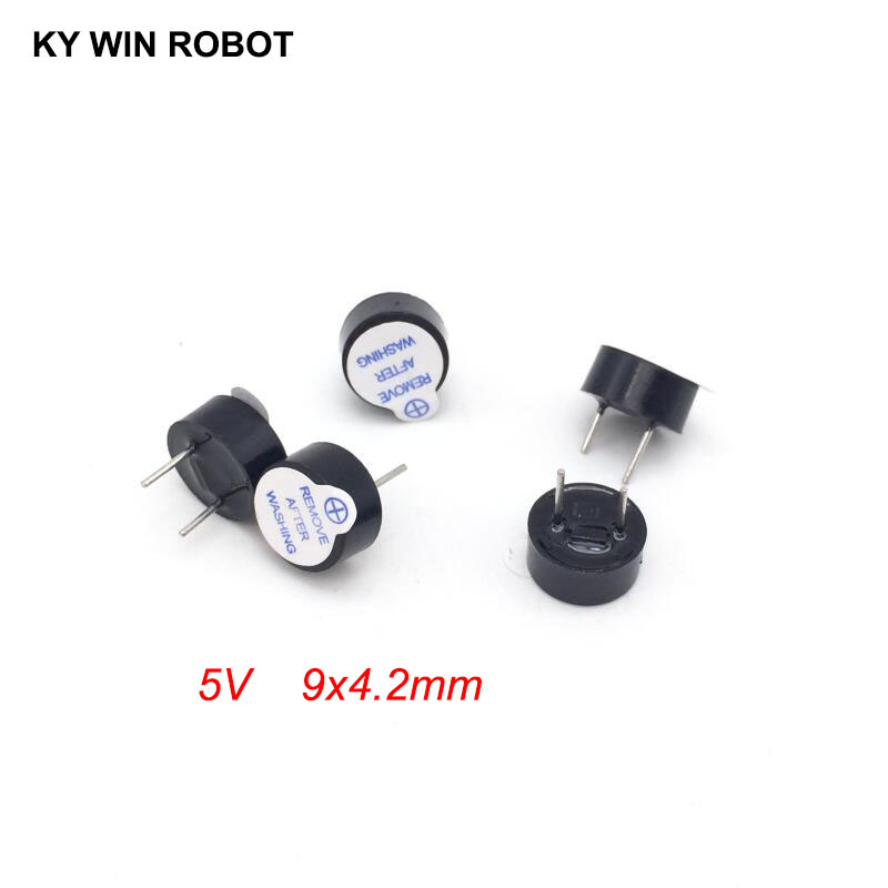 [ Electronic Diy Kit ] New Ultra-thin 5V Active Buzzer Electromagnetic 9*4.2MM 0942 (SOT Plastic Tube Length Acoustic )(5 Pieces