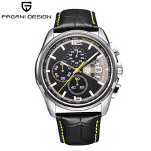 2016 Relojes Hombres Lujo de la Marca Pagani Diseño de Cuarzo de Los Hombres Del Deporte de Múltiples Funciones Del Reloj de Buceo 30 m Reloj Casual Relogio masculino