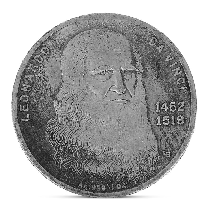 Copy Replica Leonardo Da Vinci Silver Naked Lady Painting Embossed Plating Copper Souvenir Coin