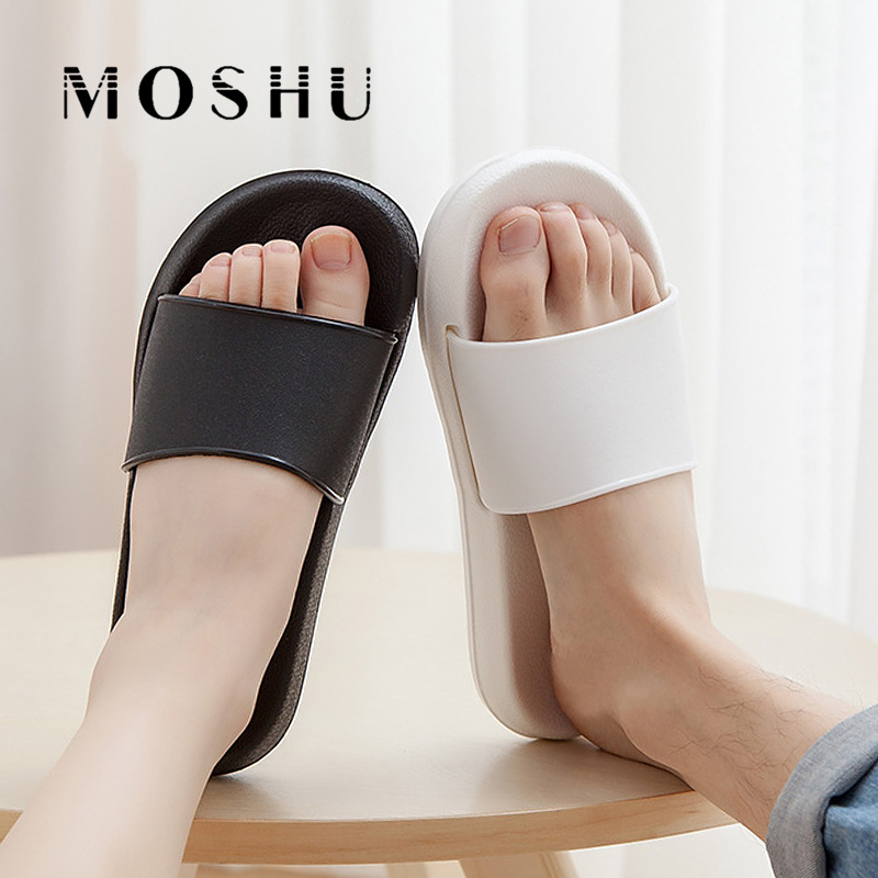 Classic Women Men Beach Slippers Home Ladies Indoor Outdoor Slides Female Black White Flip Flops Sandals Plus Size 38-45Classic Women Men Beach Slippers Home Ladies Indoor Outdoor Slides Female Black White Flip Flops Sandals Plus Size 38-45