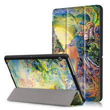 PU Leather-based Stand Cowl Case for Huawei Mediapad T3 10 AGS-L09 AGS-L03 9.6 Inch Pill + 2Pcs Display Protector + Card Reader