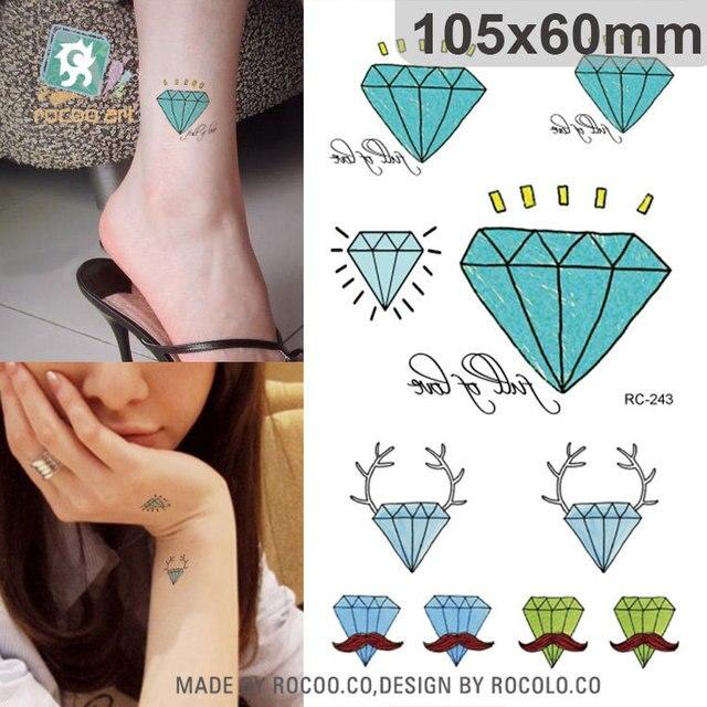 2pcslots The New Waterproof Tattoo Flash Small Diamond Symbol