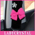 Ladycrystal 1 unids Diamante Cubierta Del Bowknot Lindo Del Coche Auto Del Cinturón de seguridad Del Cinturón de seguridad Hombrera Car Styling Para Chicas Mujeres señoras