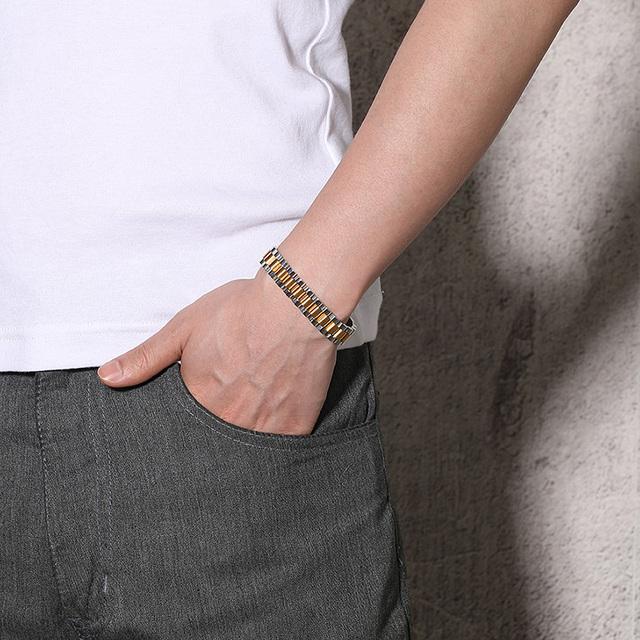 Stainless Steel Energy Health Bracelet 26pcs 99.999% High Pure Germanium