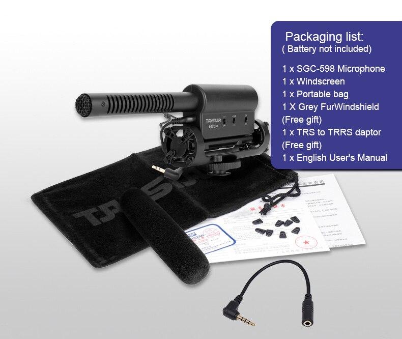 para Nikon Canon DSLR Camera DV Camcorder para Vloggers Videomaker