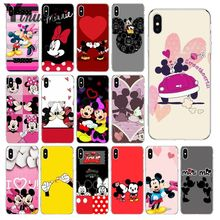 Yinuoda Kissing Mickey Minnie Mouse Custom Photo Soft Phone Case for Apple iPhone 8 7 6 6S Plus X XS MAX 5 5S SE XR Cover