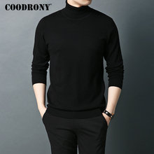 COODRONY Brand Sweater Men Pure Merino Wool Sweaters Autumn Winter Thick Warm Cashmere Pullover Men Turtleneck Pull Homme 93016 children autumn and winter warm clothes boys and girls thick cashmere sweaters