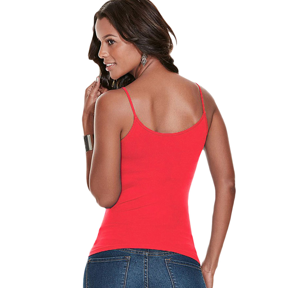 ab6024acdaa New Sexy Criss Cross Women Tops Spaghetti Strap V Neck Sleeveless Backless  Bodycon Tank Top Women Blusas Watermelon Red/Black-in Camis from Women's  Clothing ...