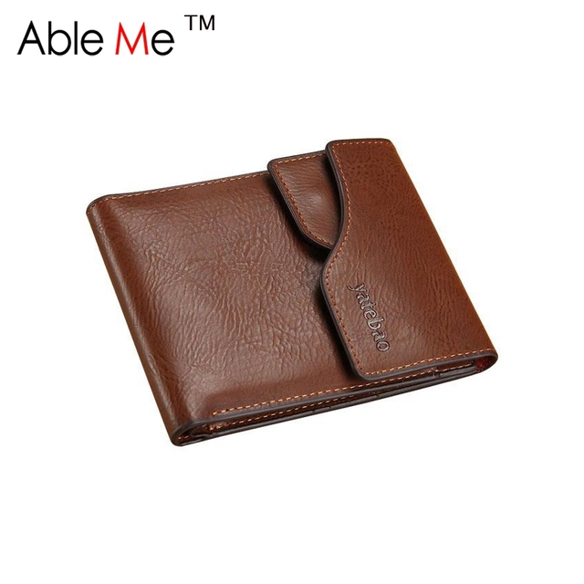 2017 Famous Brand Wallet Male Coin Pocket Designer Soft Multi-Card Short PU Leather Wallets Gift For Men