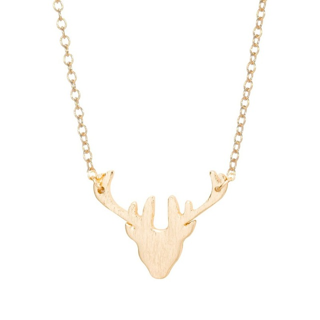 Shunyun trendy elk antler deer horn necklace moose pendant chain for shunyun trendy elk antler deer horn necklace moose pendant chain for women lover girlfriend animal maxi aloadofball Images