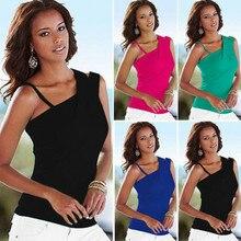 Fashion Women Summer Irregular Vest Top Sleeveless Blouse Casual Tank Tops Blouse